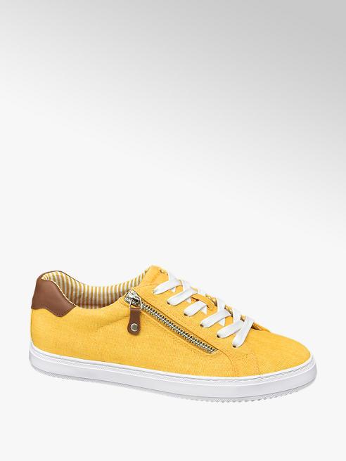 Graceland żółte tenisówki damskie Graceland na białej podeszwie