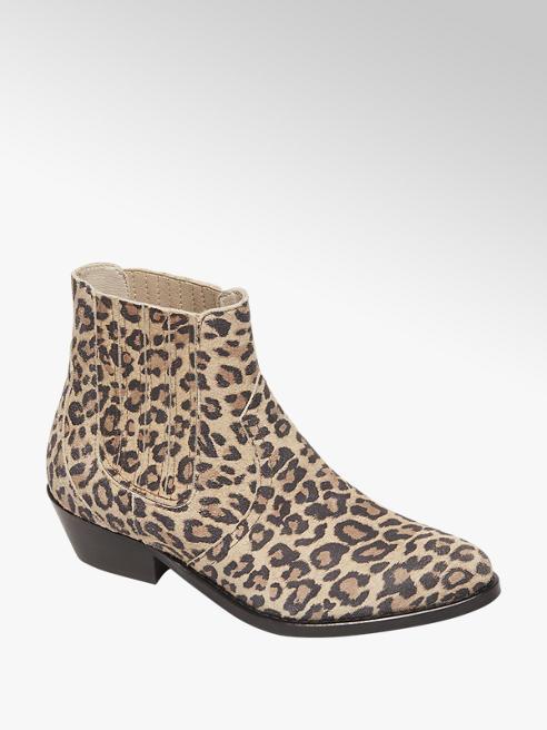 5th Avenue Beige enkellaars leopard