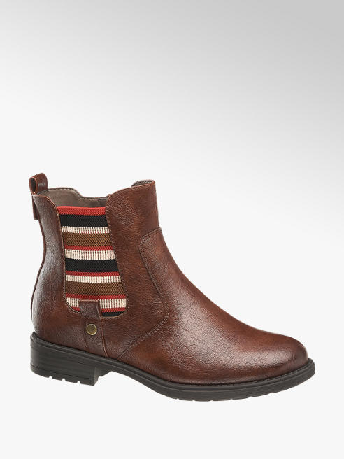 5th Avenue Chelsea Boots in Dunkelbraun, Weite H