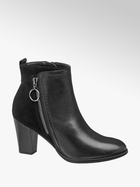 online retailer d1368 7d253 Shoptagr | Black Leather Heeled Ankle Boots by 5th Avenue