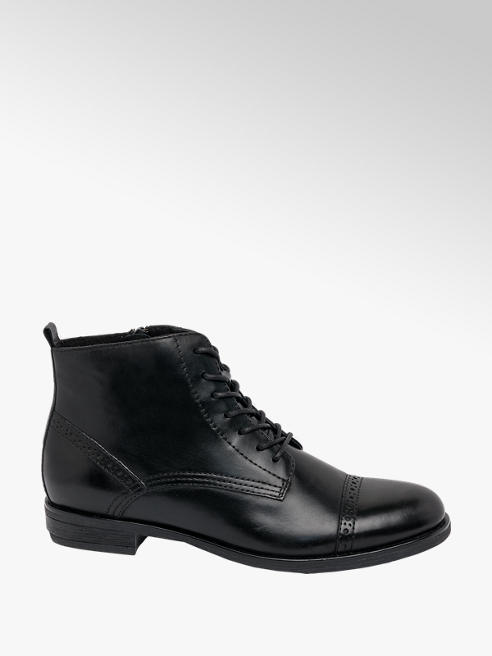 5th Avenue Black Leather Lace Up Brogue