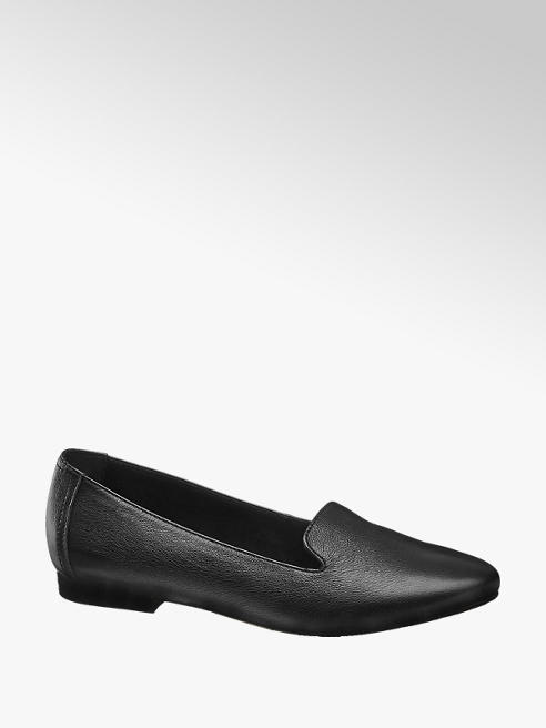 5th Avenue Black Soft Leather Loafers