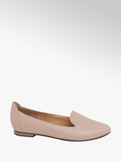 5th Avenue Light Pink Leather Ballerinas