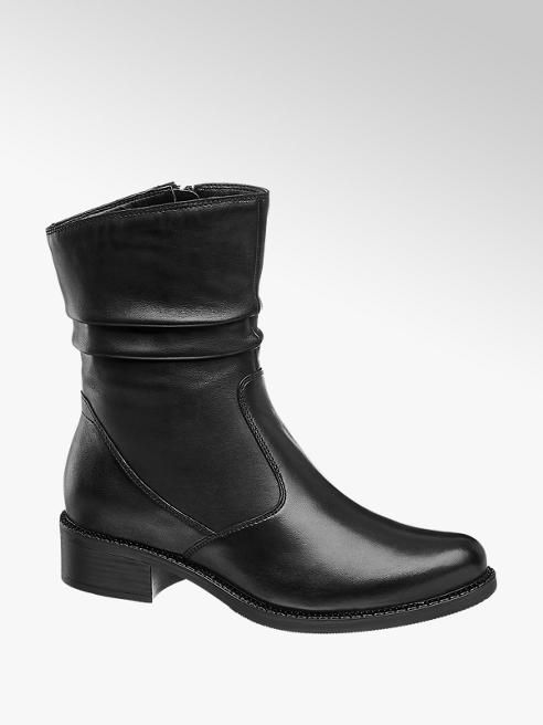 5th Avenue Black Leather Boots