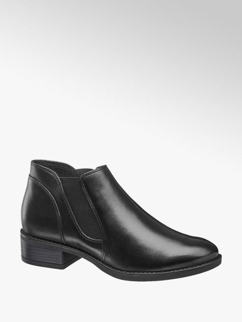 5th Avenue Black Leather Chelsea Boot