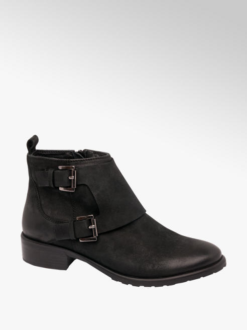5th Avenue Twin Buckle Ankle Boot