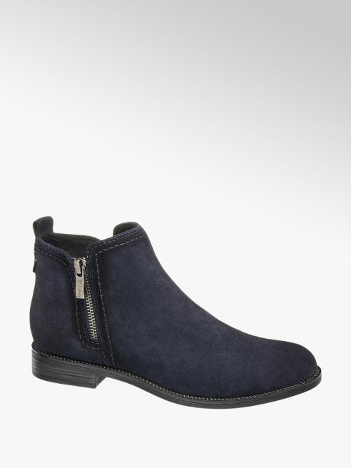 5th Avenue Navy Zip Detail Chelsea Boots