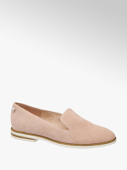 5th Avenue Pink Leather Croc Loafers