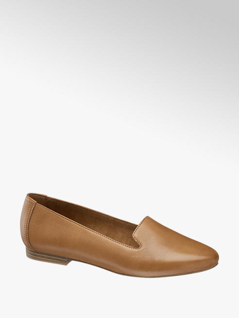 5th Avenue Cognac Soft Leather Loafers