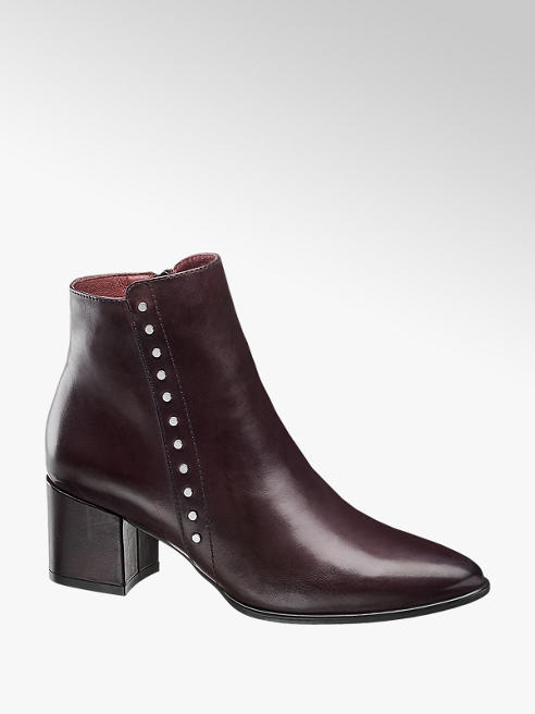 5th Avenue Burgundy Studded Heeled Boots