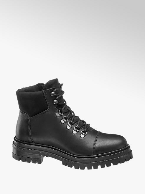 5th Avenue Leder Boots, gefüttert