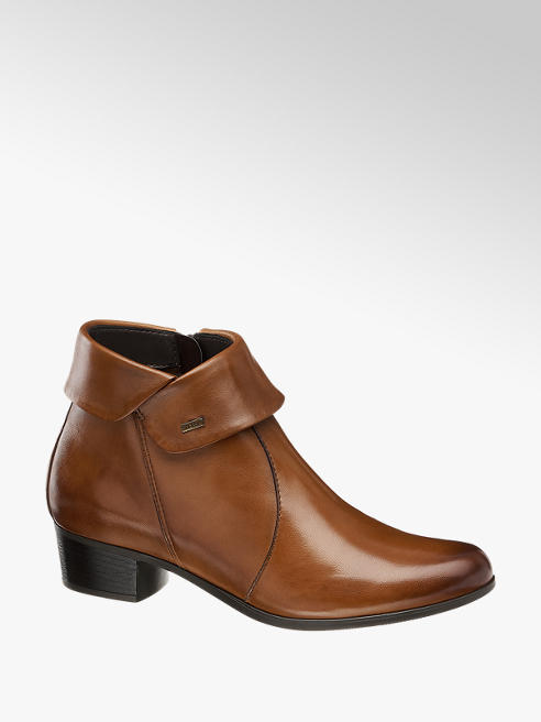 5th Avenue Leder Boots in Braun