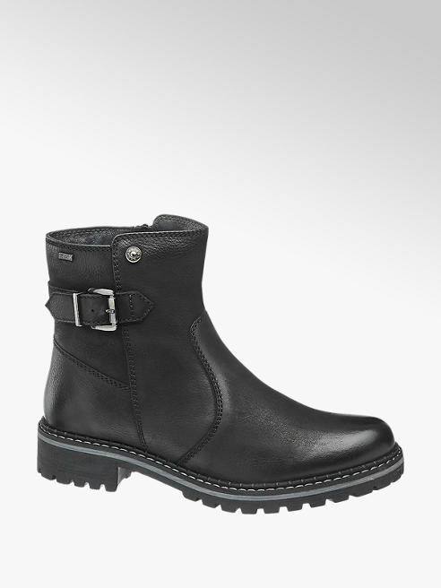 5th Avenue Leder Boots in Schwarz