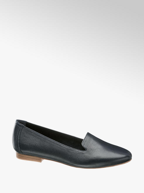 5th Avenue Leder Loafer in Schwarz