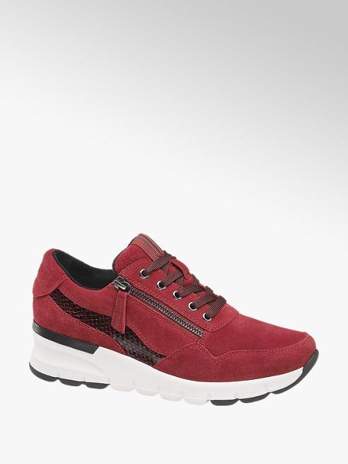 5th Avenue Leder Sneaker in Rot, Weite H