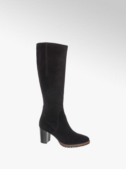 5th Avenue Leder Stiefel in Schwarz