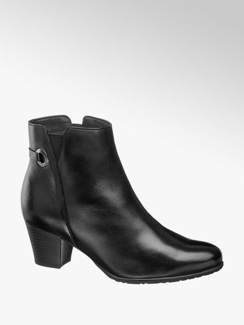 5th Avenue Leder Stiefeletten in Schwarz