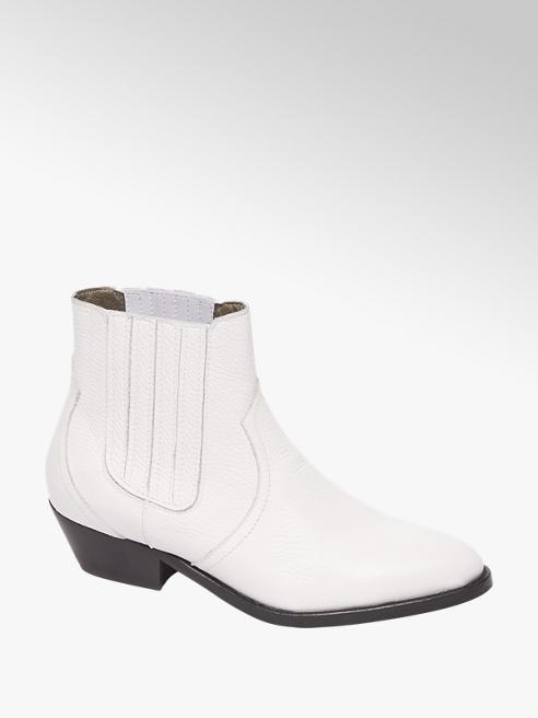 5th Avenue Witte enkellaars elastiek