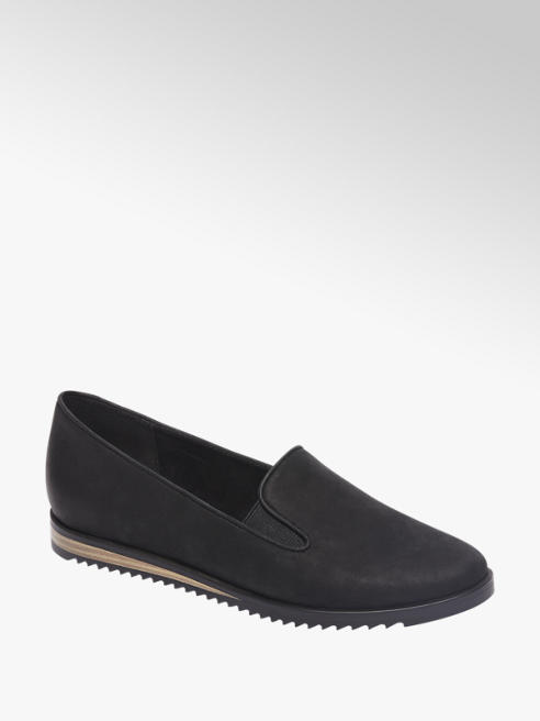 5th Avenue Zwarte leren slip-on
