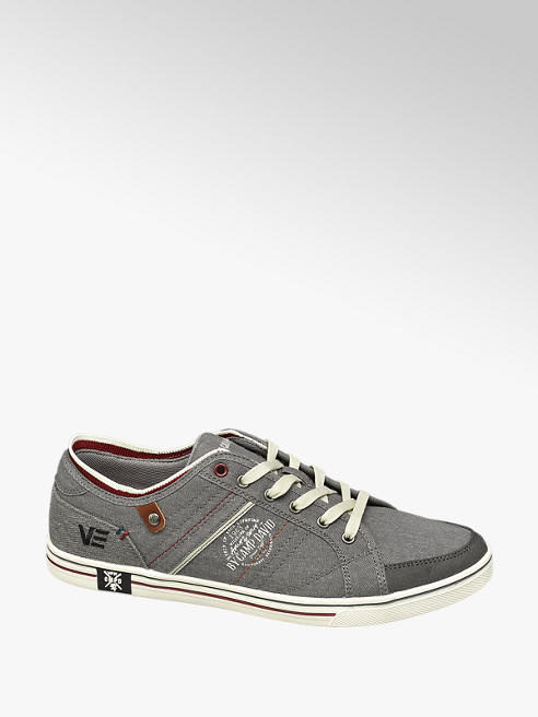 venture by Camp David Leinen Sneaker in Grau mit Prints