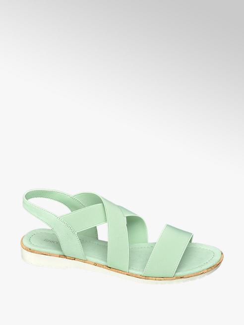 Graceland zielone płaskie sandały damskie Graceland