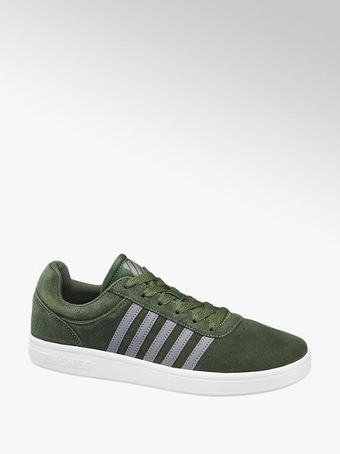 k-swiss zielone sneakersy męskie k-swiss na białej podeszwie