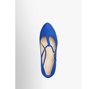b0313940fce48e Graceland Damen T-Spangen Pumps blau Neu
