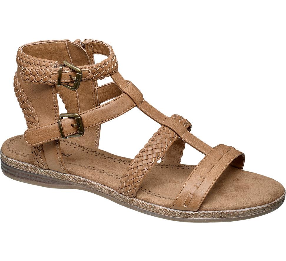 Graceland Damen Sandale braun Neu   eBay 16f9c1221d