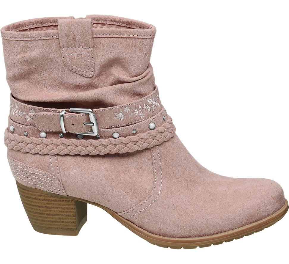 Graceland Damen Neu zu rosa Details Stiefelette X0Ow8nPk