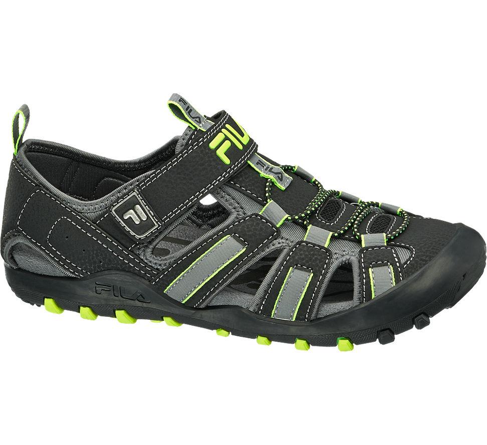 Details zu Fila Jungen Trekking Sandale schwarz Neu