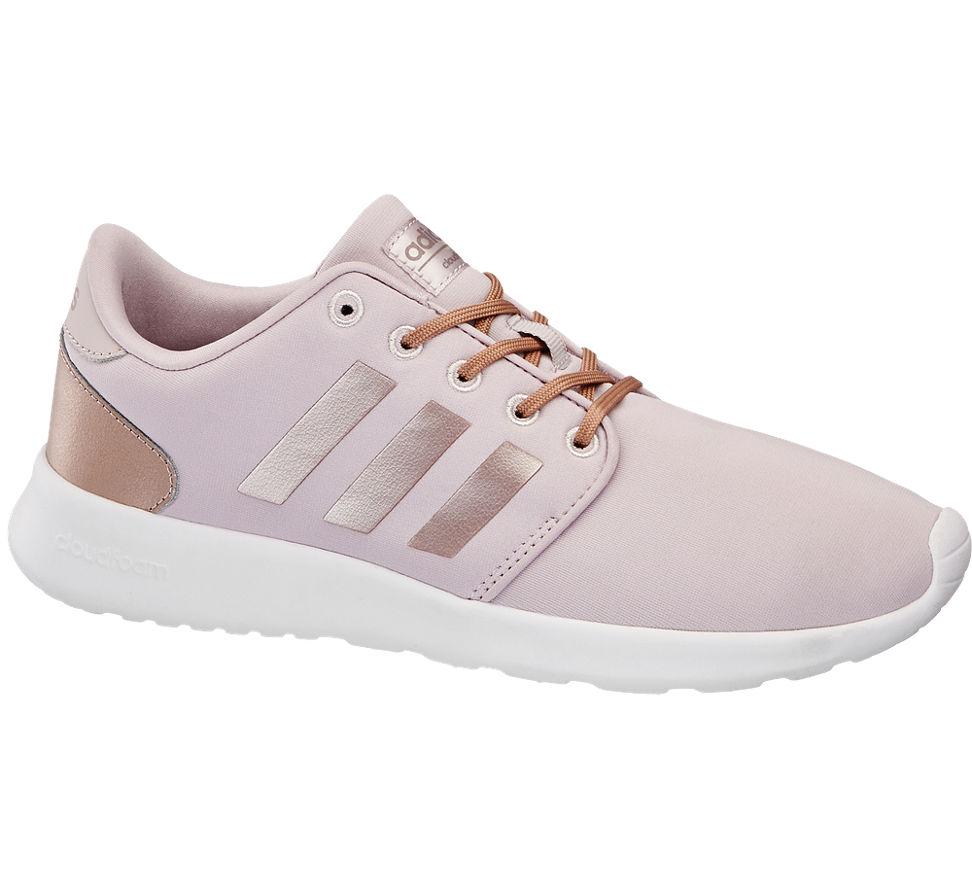 c4df94d1250d Adidas Damen Sneaker Cloudfoam QT RACER rosa Neu   eBay
