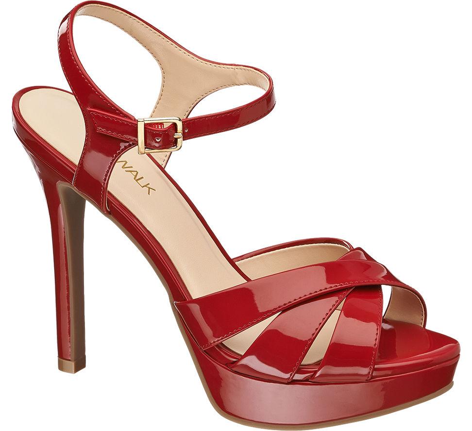 Catwalk Damen Sandalette rot Neu   eBay 1225c59ad9