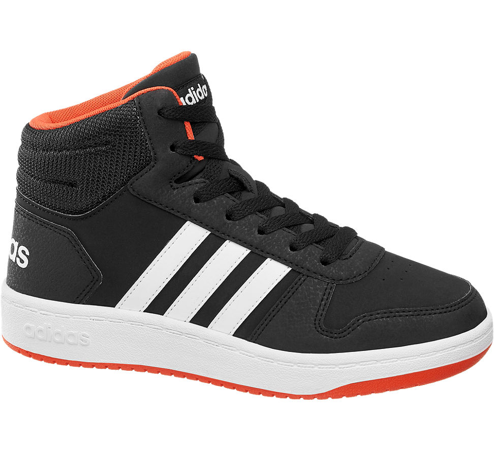 Details zu Adidas Jungen Mid Cut HOOPS MID 2.0 schwarz Neu