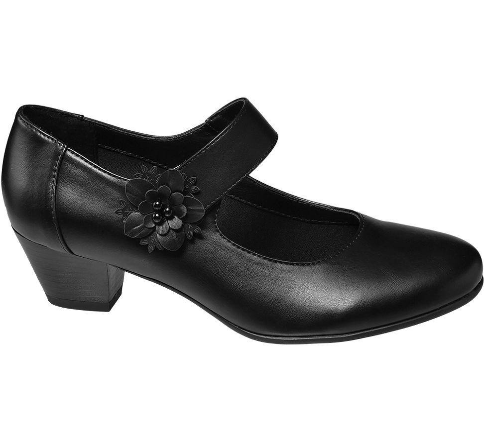 83b5303e55e Details about Deichmann Shoes Easy Street Comfort women Ladies Comfort Bar  Shoes black New