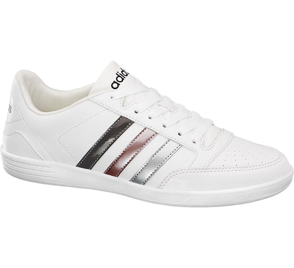 Details zu Adidas Damen Sneaker VL HOOPS LOW weiß Neu