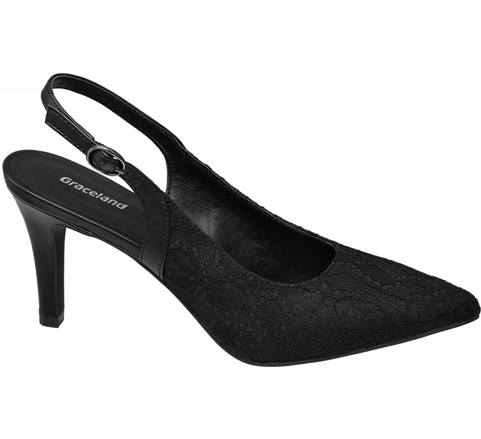 Damen Sling Pumps von Graceland in weiß