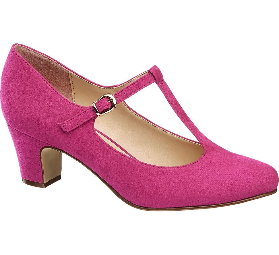 53ca7809c8233 Graceland Damen T-Spangen Pumps pink Neu