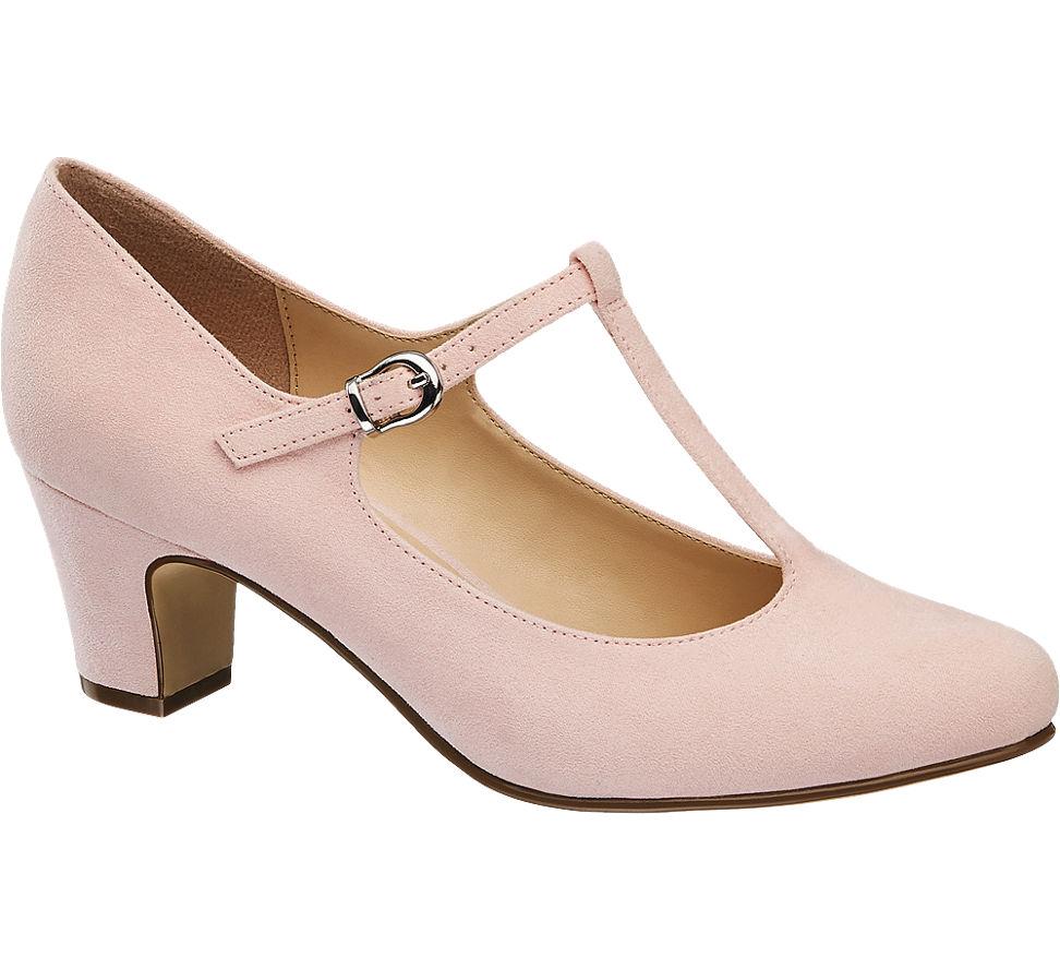 84061eb83da89a Graceland Damen T-Spangen Pumps rosa Neu