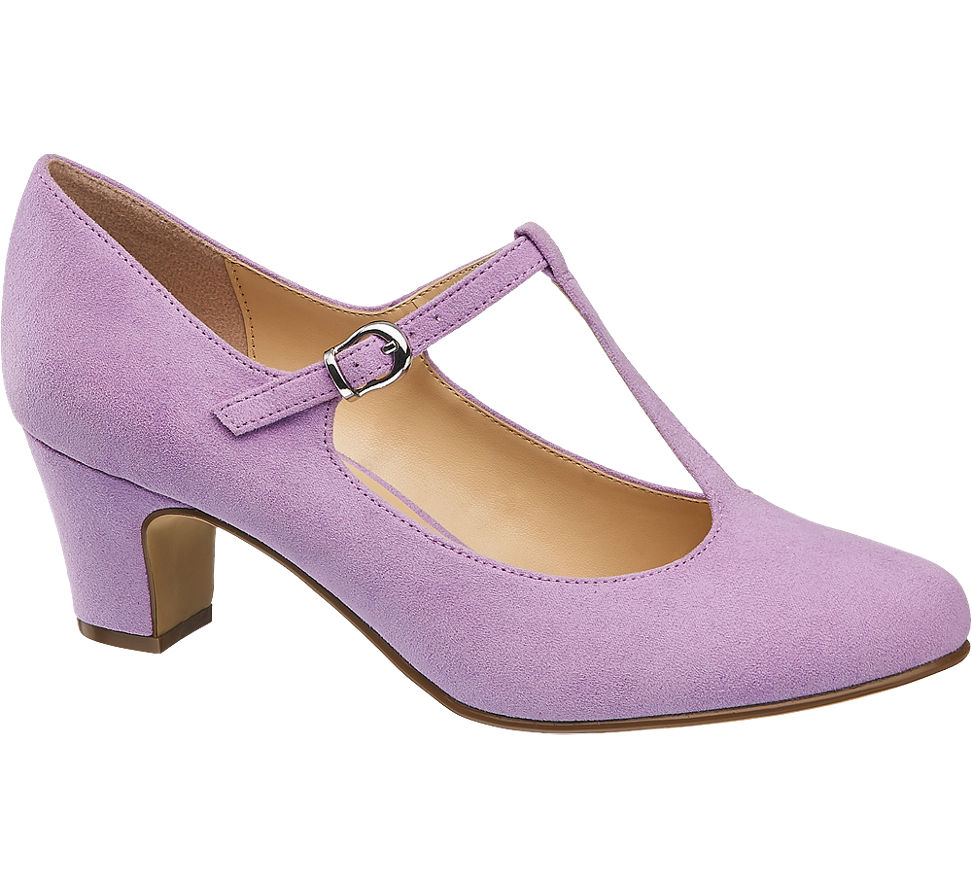 Graceland Damen Spangen Pumps rosa Neu