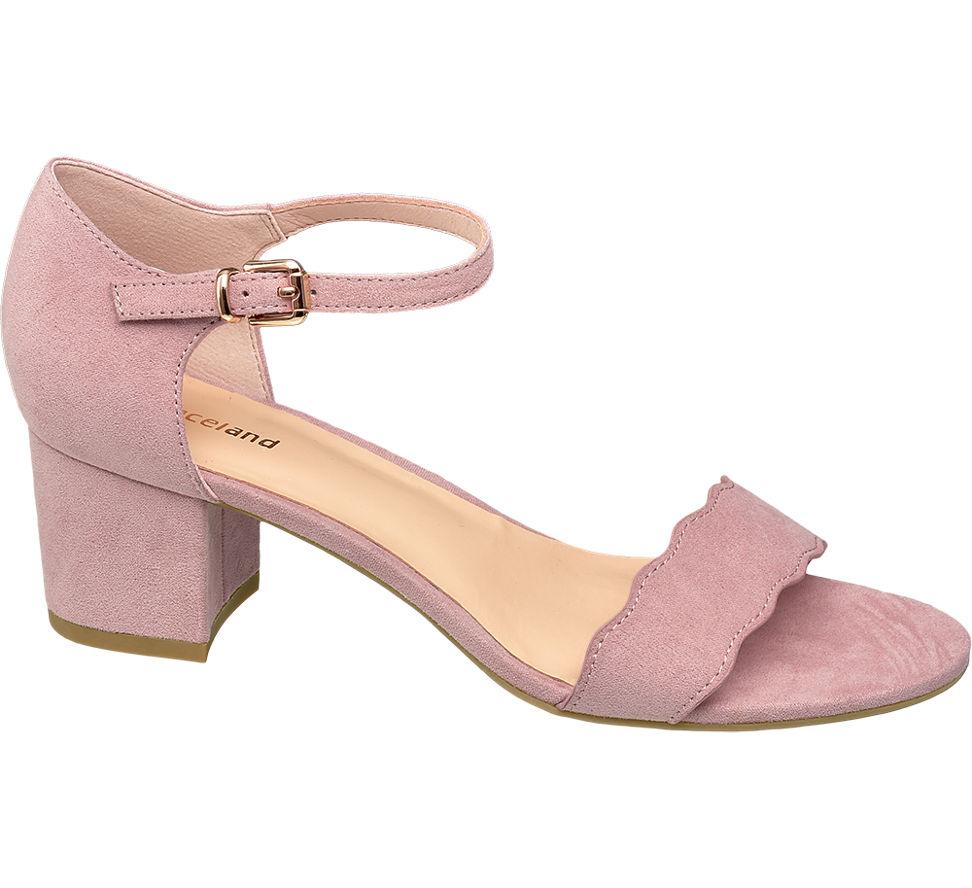 f5c3b0aee28 Details about Deichmann Shoes Graceland women Pink Low Block Heels pink New
