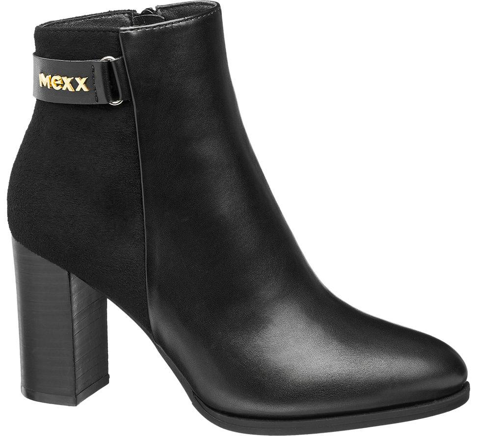 Details zu MEXX Damen Stiefelette schwarz Neu